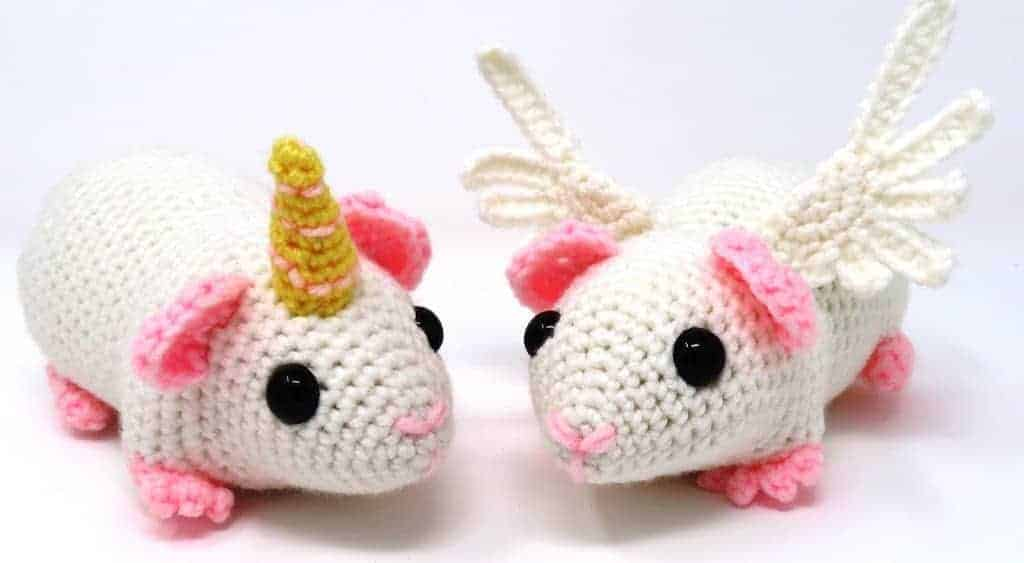 Guineacorn and Pigasus   Free Crochet Pattern   Hooked by Kati